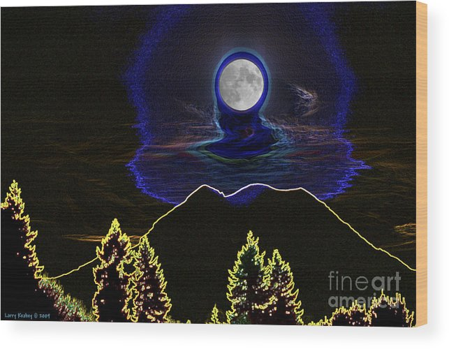 Washington Wood Print featuring the photograph Mystic Moon by Larry Keahey