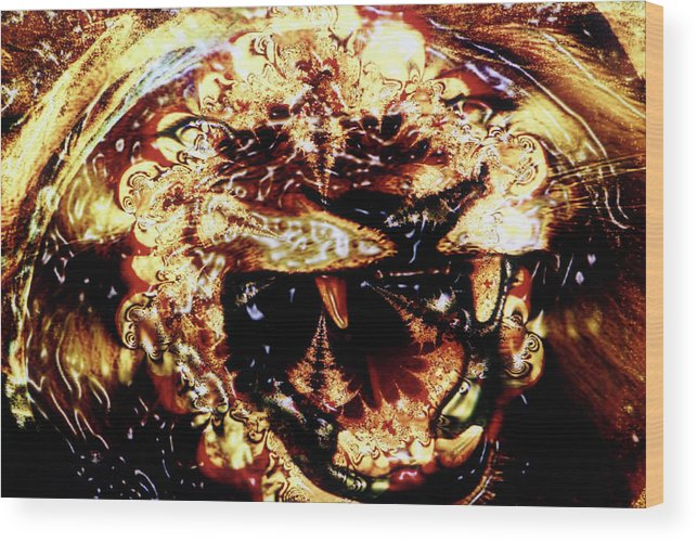 Lion Wood Print featuring the photograph Natural Power by Johnny Aguirre