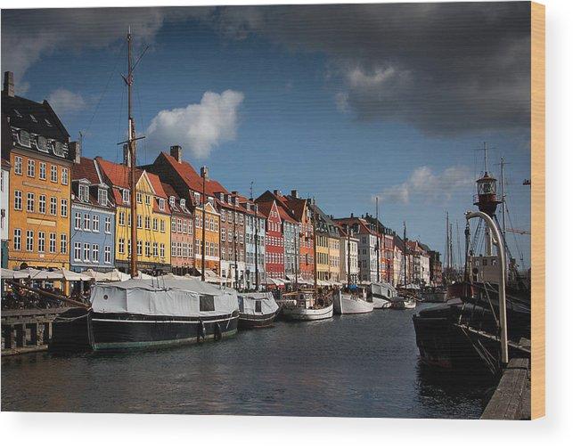 Nyhavn Wood Print featuring the photograph Nyhavn In Copenhagen by Paul Davis