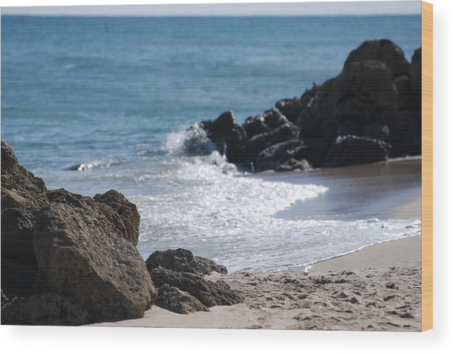 Sea Scape Wood Print featuring the photograph Ocean Rocks by Rob Hans