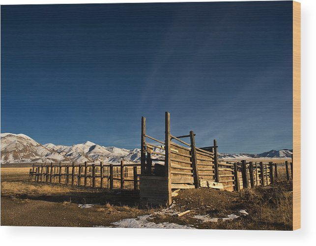 Landscape Wood Print featuring the photograph Old Corral by Werner Rolli