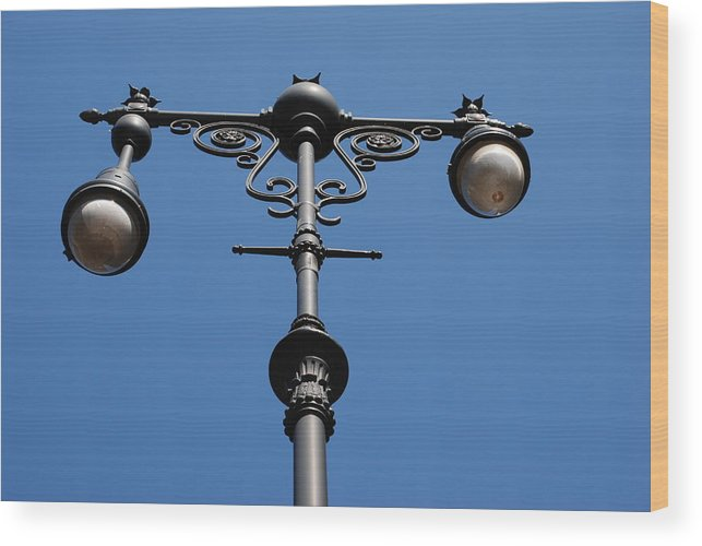 Lamppost Wood Print featuring the photograph Old Lamppost by Rob Hans