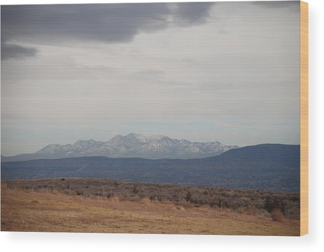Mountains Wood Print featuring the photograph Overcast On The Sandias by Rob Hans