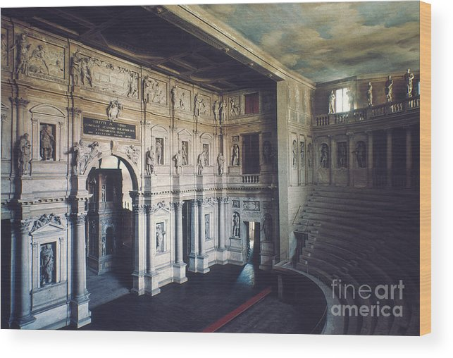 1579 Wood Print featuring the photograph Palladio: Teatro Olimpico by Granger