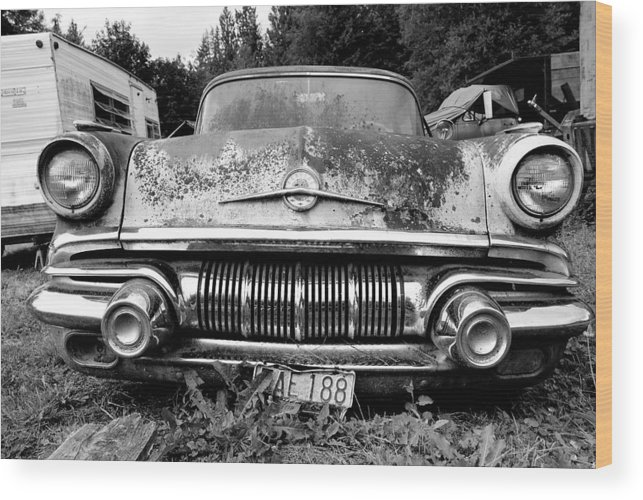 Car Wood Print featuring the photograph Pontiac Smile 2 by Jennifer Owen