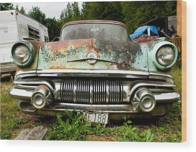 Pontiac Wood Print featuring the photograph Pontiac Smile by Jennifer Owen