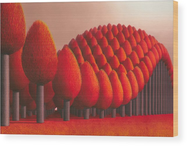 Tree Wood Print featuring the painting Populus Flucta by Patricia Van Lubeck