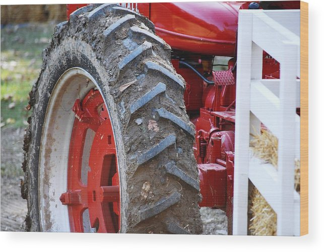 Tractor Wood Print featuring the photograph Pulling For The Farm by Peter McIntosh