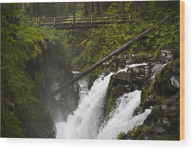 Water Wood Print featuring the photograph Raging Water Fall by Chad Davis