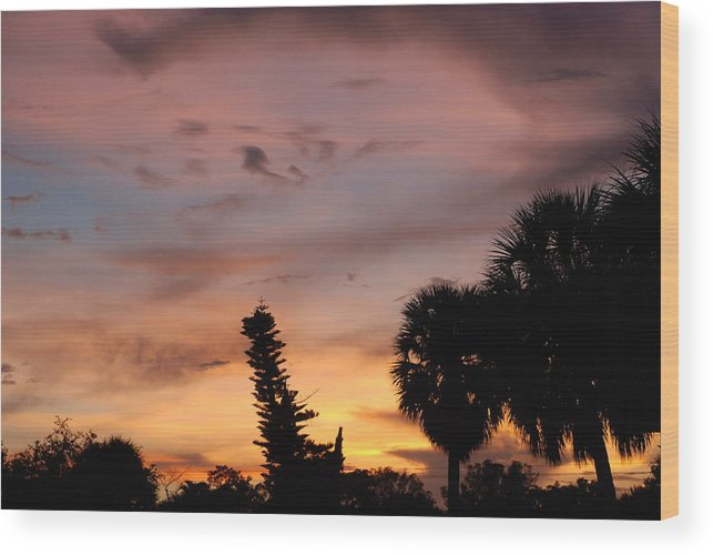 Sunset Wood Print featuring the photograph Rainbow Sunset by Rob Hans