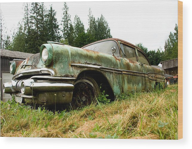 Pontiac Wood Print featuring the photograph Re-tired by Jennifer Owen