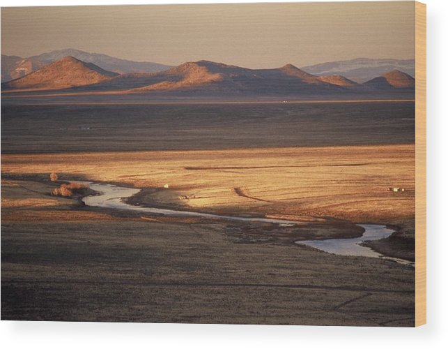 Landscape Wood Print featuring the photograph Rio Grande Evening by Lynard Stroud