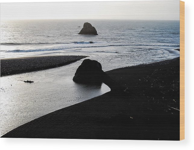Estuary Wood Print featuring the photograph River Meets The Sea by Rupert Chambers