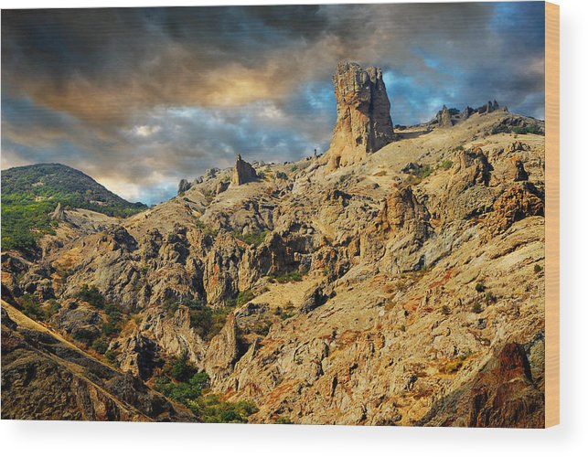 Rock Wood Print featuring the photograph Rock Devil's Finger by Yuri Hope