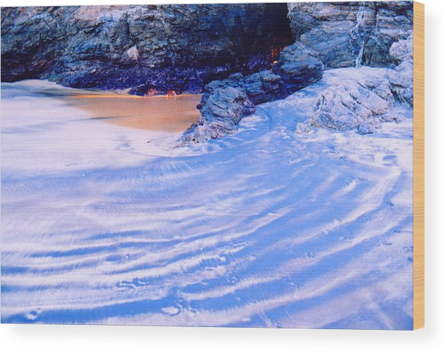 Sand Wood Print featuring the photograph Rocks And Sand 2 by Lyle Crump