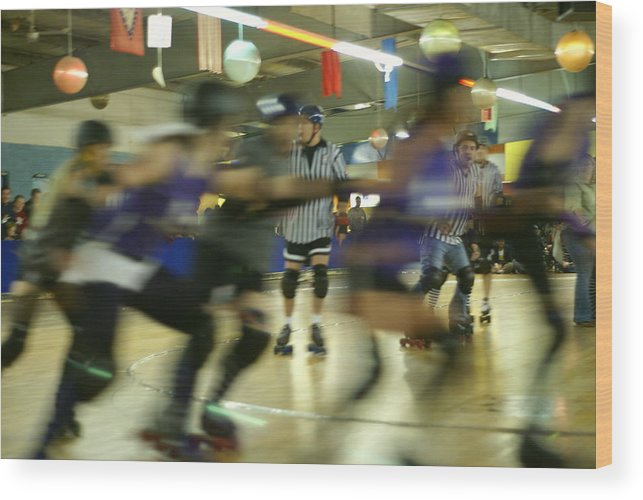 Skating Wood Print featuring the photograph Roller Girls by Adams Art Photography