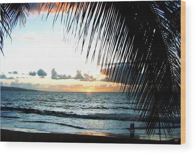 1986 Wood Print featuring the photograph Romantic Sunset by Will Borden