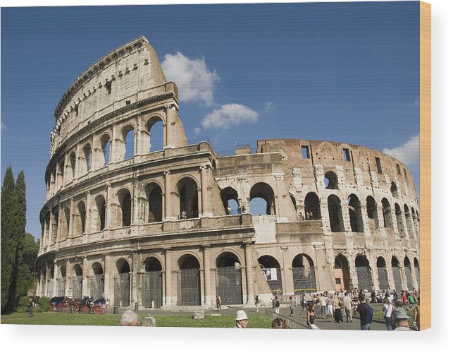 Rome Wood Print featuring the photograph Rome by Charles Ridgway