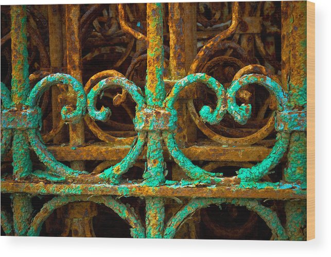 Rust Wood Print featuring the photograph Rusted Gates by Craig Perry-Ollila