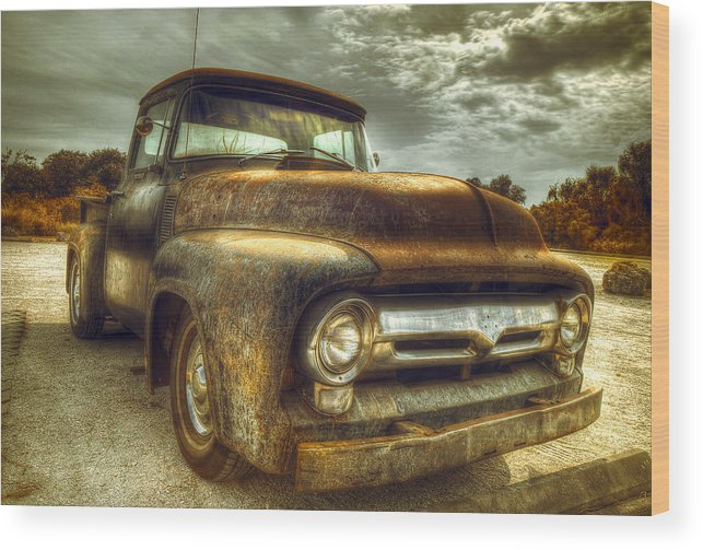 Rust Wood Print featuring the photograph Rusty Truck by Mal Bray