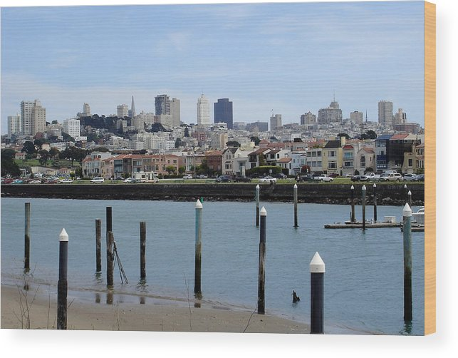 San Francisco Wood Print featuring the photograph San Francisco by Michael Simeone