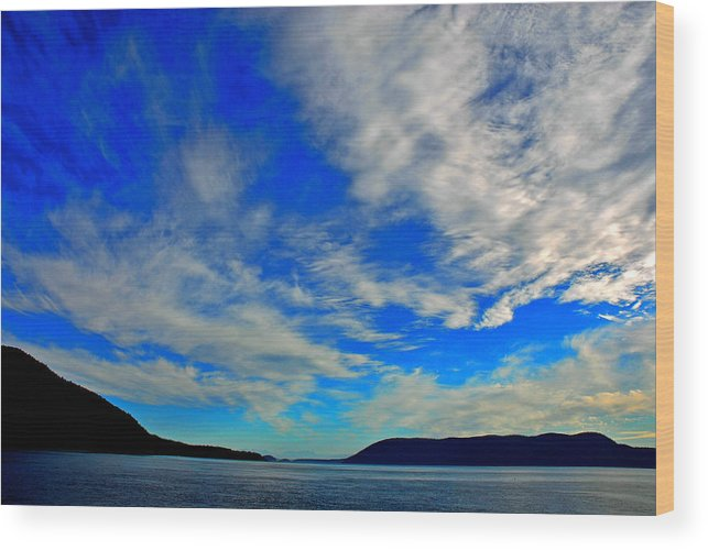 San Juan Islands Wood Print featuring the photograph San Juan Ferry Ride by Craig Perry-Ollila