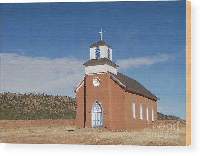 San Rafael Church Wood Print featuring the photograph San Rafael Church by Bill Hyde