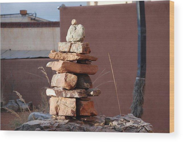 Pop Art Wood Print featuring the photograph Sante Fe Rocks by Rob Hans