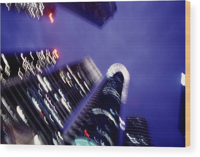 Skyline Wood Print featuring the photograph Singapore Office Towers by Brad Rickerby
