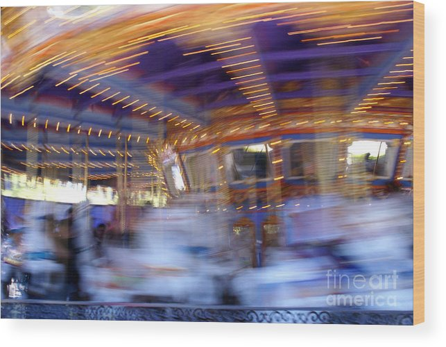 Ponies Wood Print featuring the photograph Spin Fast by Linda Shafer