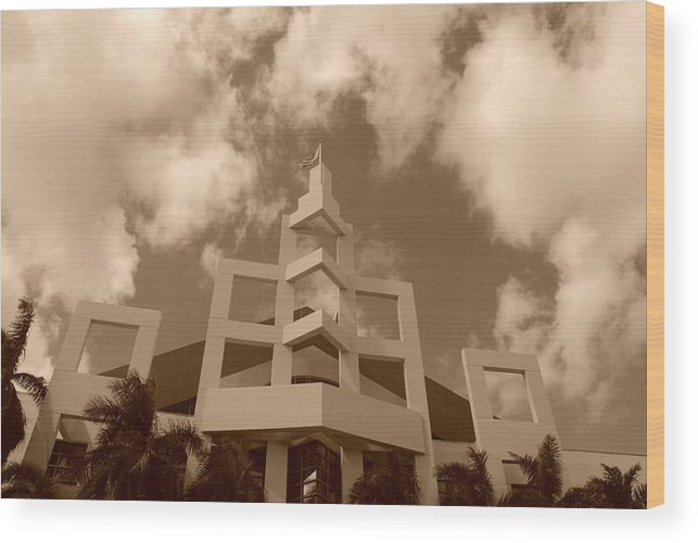 Architecture Wood Print featuring the photograph Squares In The Sky by Rob Hans