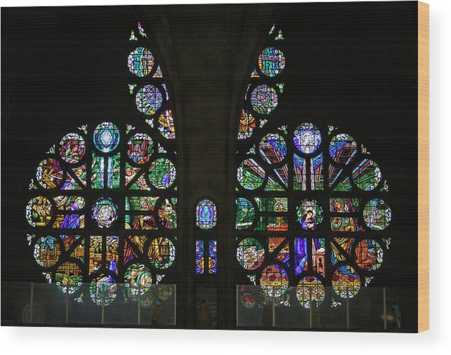 Colombia Wood Print featuring the photograph Stained Glass Our Lady Of The Rosary Cathedral Manizales Colombia by Adam Rainoff