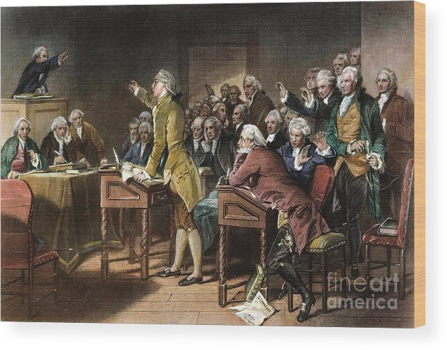1765 Wood Print featuring the photograph Stamp Act: Patrick Henry by Granger