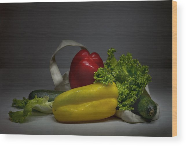 Vegetables Wood Print featuring the photograph Still-life With Vegetables by Lali Nisi