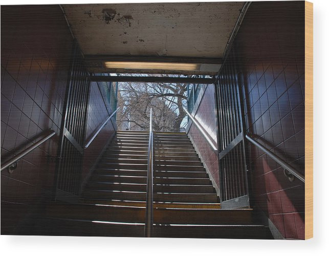 Pop Art Wood Print featuring the photograph Subway Stairs To Freedom by Rob Hans