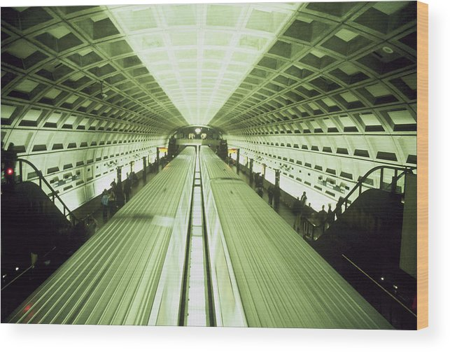 Train Wood Print featuring the photograph Subway by Wes Shinn