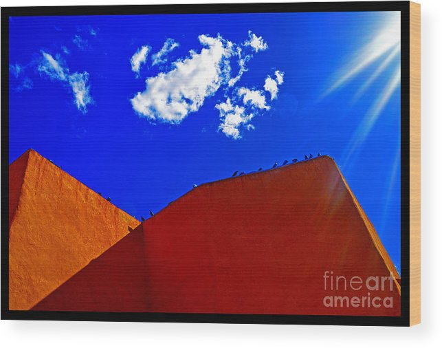 Taos Wood Print featuring the photograph Summer Day In The New World by Susanne Still