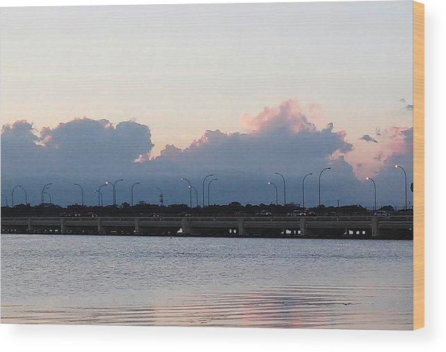 Wood Print featuring the photograph Sunset At The Lake8 by John Hiatt