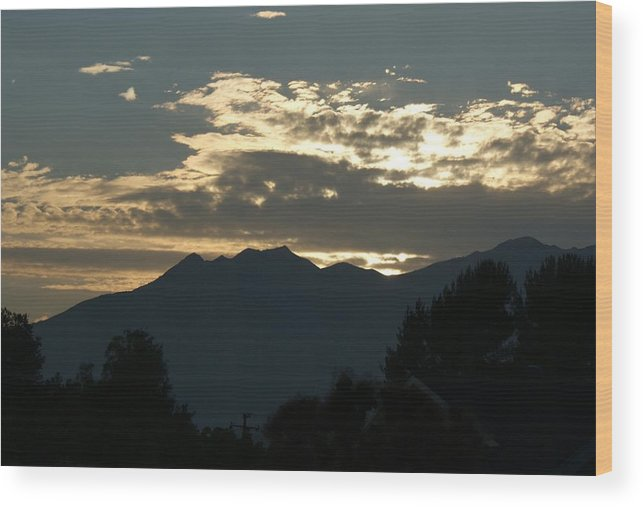 Sunset Wood Print featuring the photograph Sunset In Summer by Liz Vernand