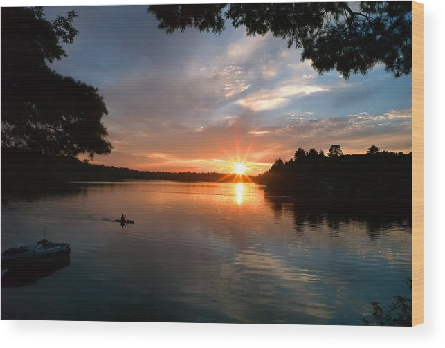 Sunset Wood Print featuring the photograph Sunset Panther Lake by Pat Carosone
