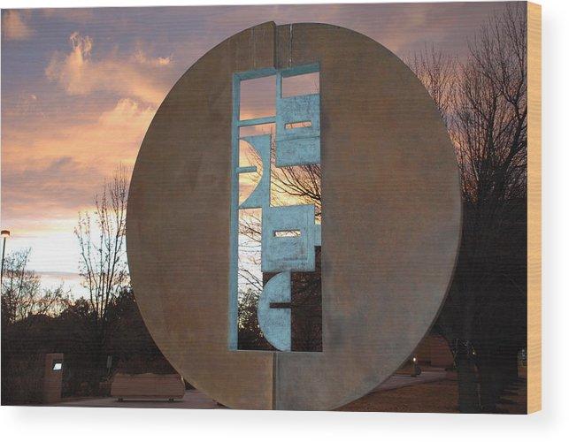 Pop Art Wood Print featuring the photograph Sunset Thru Art by Rob Hans