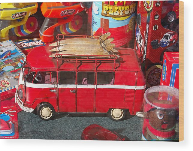 Photography Wood Print featuring the photograph Surf Bus by Heather S Huston
