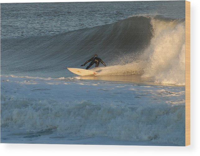 Surfer Art Wood Print featuring the photograph Surfing 79 by Joyce StJames