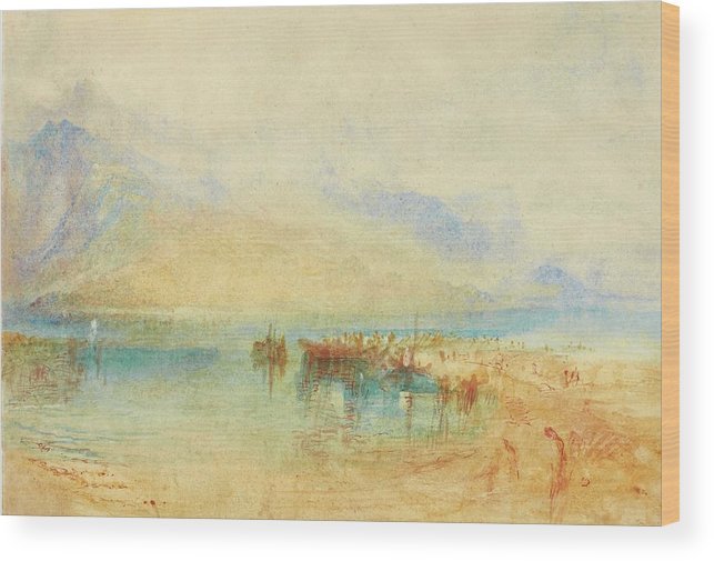 Joseph Mallord William Turner Wood Print featuring the painting Switzerland Possibly Lake by Joseph Mallord