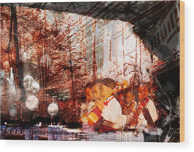Music Wood Print featuring the digital art Symphony In The Park by Xavier Carter