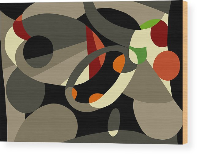 Abstract Prints Modern Prints Contemporary Print Wood Print featuring the painting Tan Bark by Ralf M Broughton