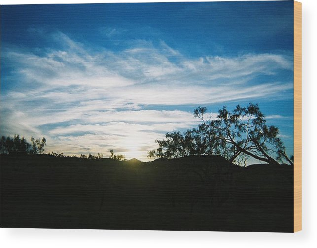 Blue Wood Print featuring the photograph Texas Big Blue Sky by Ana Villaronga