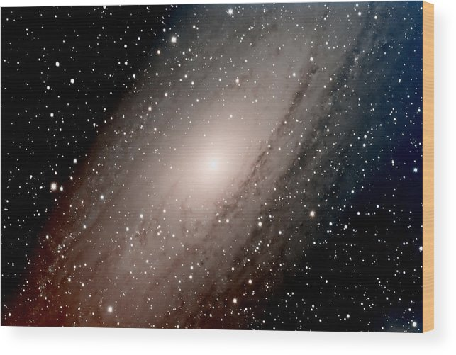 Star Wood Print featuring the photograph The Andromeda Galaxy Close Up by Jim DeLillo