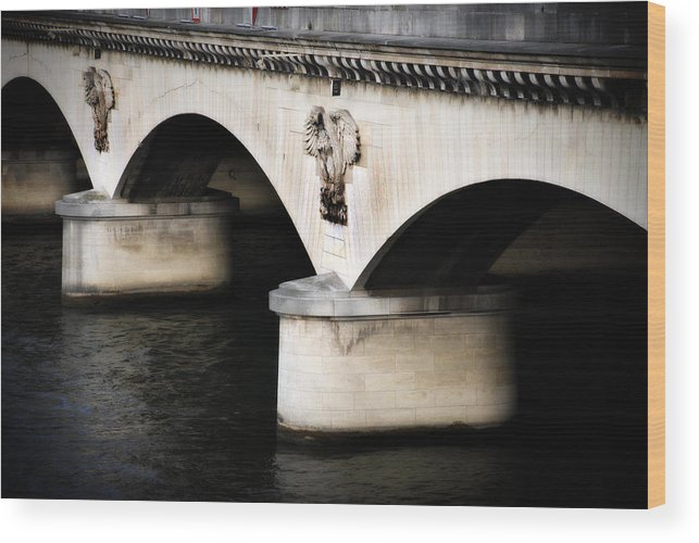 River Wood Print featuring the photograph The Bridge by Cabral Stock