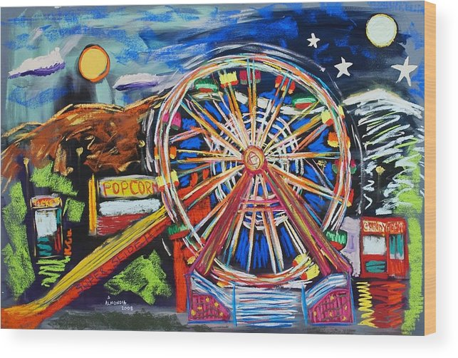 Carnival Wood Print featuring the painting The Carnival Concoction by Albert Almondia